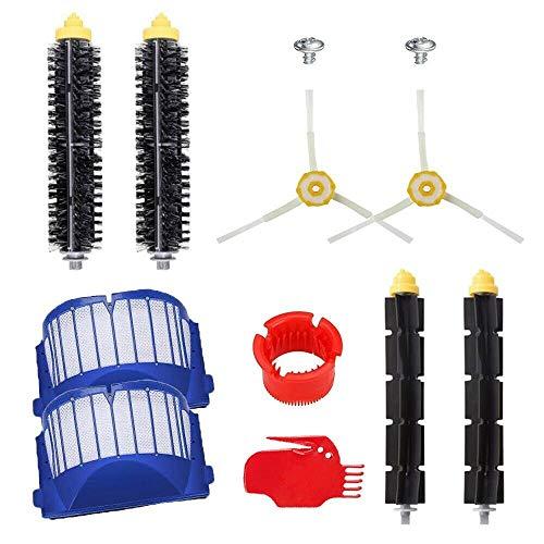 ATING Accesorios de barredora para iRobot serie 600 cepillo principal + cepillo lateral + pantalla de filtro + cepillo de rodillo