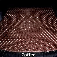 カスタム 車のトランクマット ポルシェカイエン2011 2012 2013 2014 2015 2016 2017 カーゴライナー ラゲッジマット すべての天気 防水 防汚-Coffee