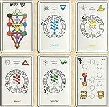 Le Tarot Cabalistique del árbol de la vida – Juego de 78 cartas – Tarjetas de visión con explicación de 78 hojas (libro en FR) – Juego de Tarot Divinatorio para descubrir