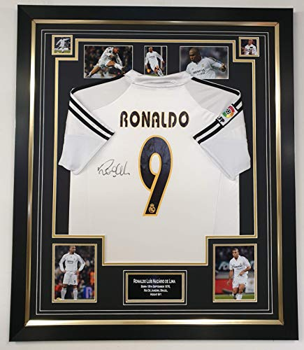 Ronaldo De Lima gesigneerd Real Madrid shirt