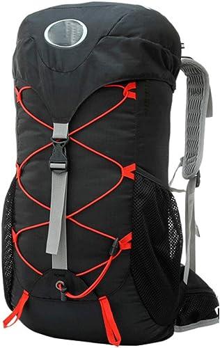 HKJhk 50 litres Sac de Montagne imperméable Hommes et Femmes Grande capacité randonnée Camping Sac à Dos Sac à Dos (Couleur   Noir)