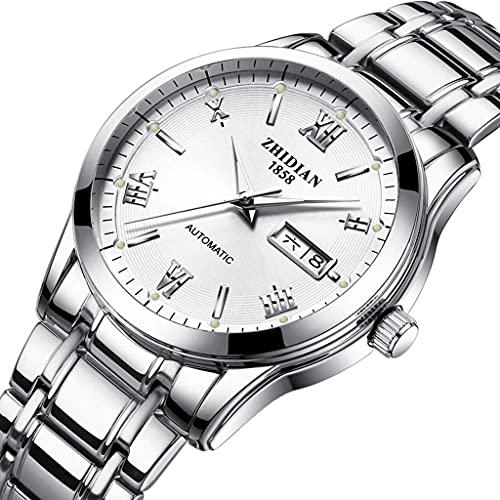 JYTFZD YANGHAO-Reloj de Pulsera- Reloj mecánico para Hombres Cinturón de Acero Impermeable automático Moda Inferior Transparente 2021 New Hombres Reloj (Color: B) OUZDNSSB-5 (Color : C)