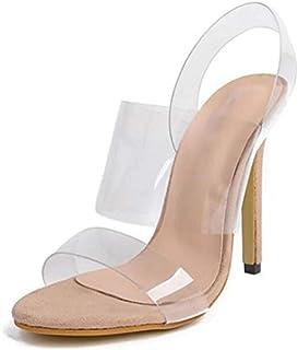 High Heel PVC Transparent Sandals Women's Shoes