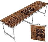 Offizieller Old School Beer Pong Tisch | Premium Qualität | Offizielle Wettkampfmaße | Beer Pong Table | Kratz und Wassergeschützt | Stabil | Partyspiele | Trinkspiele | House Party | 100% Spaß -