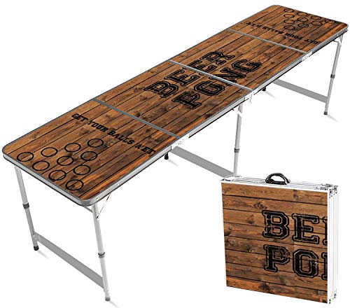 Offizieller Old School Beer Pong Tisch | Premium Qualität | Offizielle Wettkampfmaße | Beer Pong Table | Kratz und Wassergeschützt | Stabil | Partyspiele | Trinkspiele | House Party | 100% Spaß