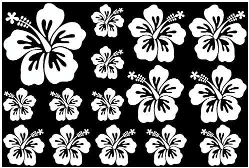 Samunshi Hibiskus Aufkleber Creativ Set Hibiskusblüten In 5 Größen Und 25 Farben 75x50cm Grasgrün Küche Haushalt