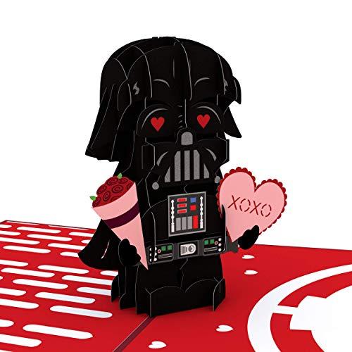 Lovepop Star Wars Valentinstag Pop Up Karten – 3D Karten, Pop Up Valentinstag Karten, Romantik Karten, Pop Up Grußkarten, Karte für Ehefrau, Valentinstag Karte für Ehemann Darth Vader Valentinstag