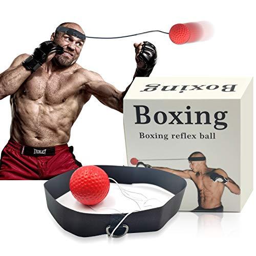 Woochic Pelota de Boxeo para Reflejos, Pelota de Entrenamiento de Boxeo, Entrenamiento...