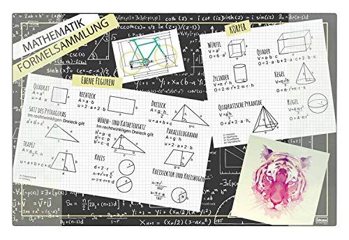 Idena 10451 - Vade de Escritorio con Dos Bolsillos, colección de fórmulas, FSC Mix, Aprox. 58,5 x 38,5 cm, Accesorio práctico para niños, jóvenes y Estudios