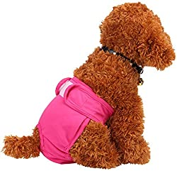 Xinshe Dog Diapers Dog Underwear Premium Dog Diapers Female Reusable Sanitary Panties for Small to Large Dogs Pink XS