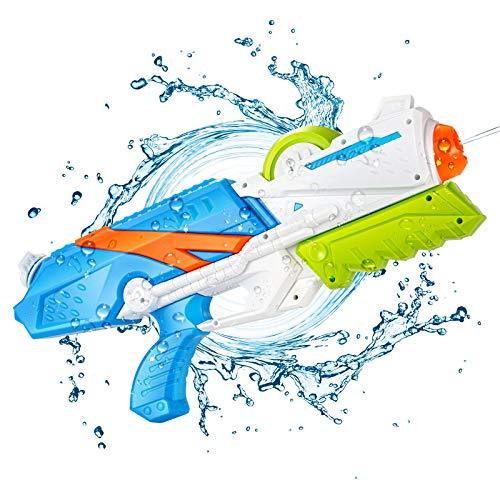 Ucradle Wasserpistole Spielzeug für Kinder, 1025ML Spritzpistolen Junge Mädchen Erwachsene Groß Wasserspritzpistolen 8-10 Metern Langer Reichweiter, Party Strand Badespielzeug Strandspielzeug