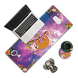 Sloth Themed Office Desk Pad