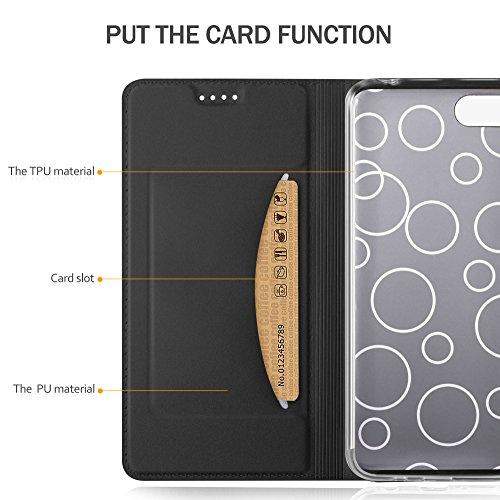 GeeMai für Huawei Y5 2018 Hülle, für Huawei Y5 Prime 2018 Hülle, Premium Hülle Flip Case Tasche Cover Hüllen mit Magnetverschluss Standfunktion Schutzhülle für Huawei Y5 2018 Phone (Schwarz) - 5