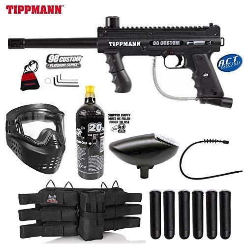 MAddog Tippmann 98 Custom Platinum Series Titanium Paintball Gun Package