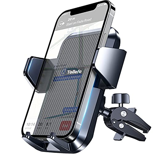 """Upgrade Car Phone Holder, TOLLEFE Never Fall Strong Grip Hook Air Vent Phone Mount, [Big Phone and Thick Cases Friendly] Phone Holder for Car, Compatible with All iPhone 4.0""""-7.0"""" Cellphone"""