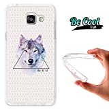 Becool® Fun - Funda Gel Flexible Samsung Galaxy A5 2016 Dibujo Lobo 'Be Wild'.Carcasa TPU...