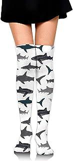 Jesse Tobias, Calcetines hasta la rodilla Calcetines largos para niños Ocean Shark Calcetines de compresión de media de arranque para mujeres