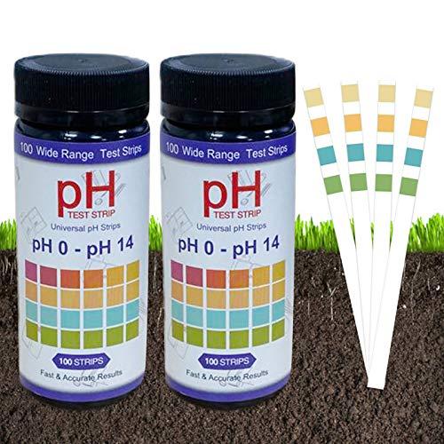 Huahuanghui Test Strisce PH,200 Strisce Test della Striscia di PH,Strisce di Carta PH Strisce,di PH Cartina Tornasole,Strisce di Carta PH Strisce,Strisce reattive per Il PH del Terreno