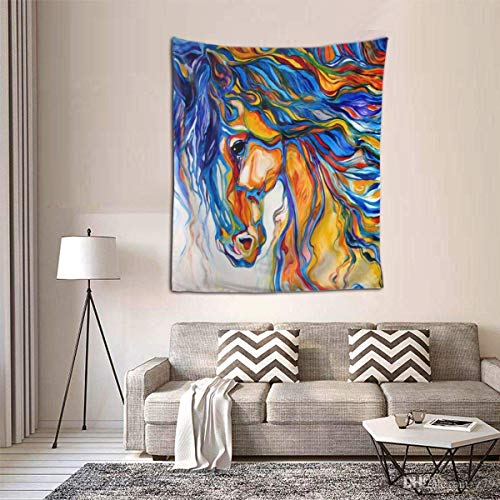 Hdadwy Art Zebra Horse Tapestry Burning Tapestry Psychedelic Tapestry Mystic Tapestry Wall Hanging