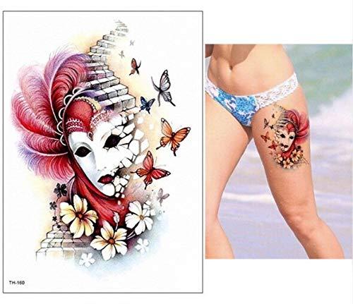 Zhuhuimin 5 unids Hombres Impermeable Desmontable Tatuaje Tatuajes ...