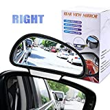 YnGia Blind Spot Mirrors, [Fits Car Mirror Frame Thickness Less than 5MM ONLY], Adjustable Car Auxiliary Wide Angle Side Rearview Mirror for Cars SUV, 1 Piece (Black-Right)