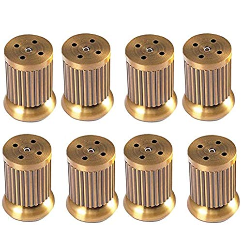 SHOP YJX Patas para muebles, patas de mesa de aleación de zinc, patas ajustables para sofá, rayas retro, con tornillos (color: 8 unidades, tamaño: 15 cm)
