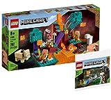 Collectix Lego 30394 Minecraft Der Wirrwald 21168 + Minecraft The Skeleton Defense - Juego de cartas