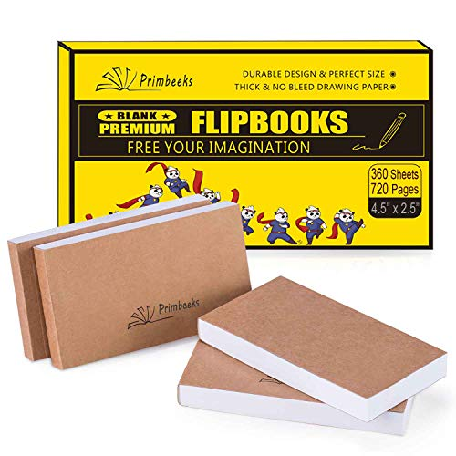 200 Pages // 100 Sheets Flipbook Paper and 8 Pcs Drawing Set for Kids /& Adults and Cartoon Creation Sketching 6 Pack Flip Book Blank Flipbooks 4.5/'/' x 2.5/'/' for Animation