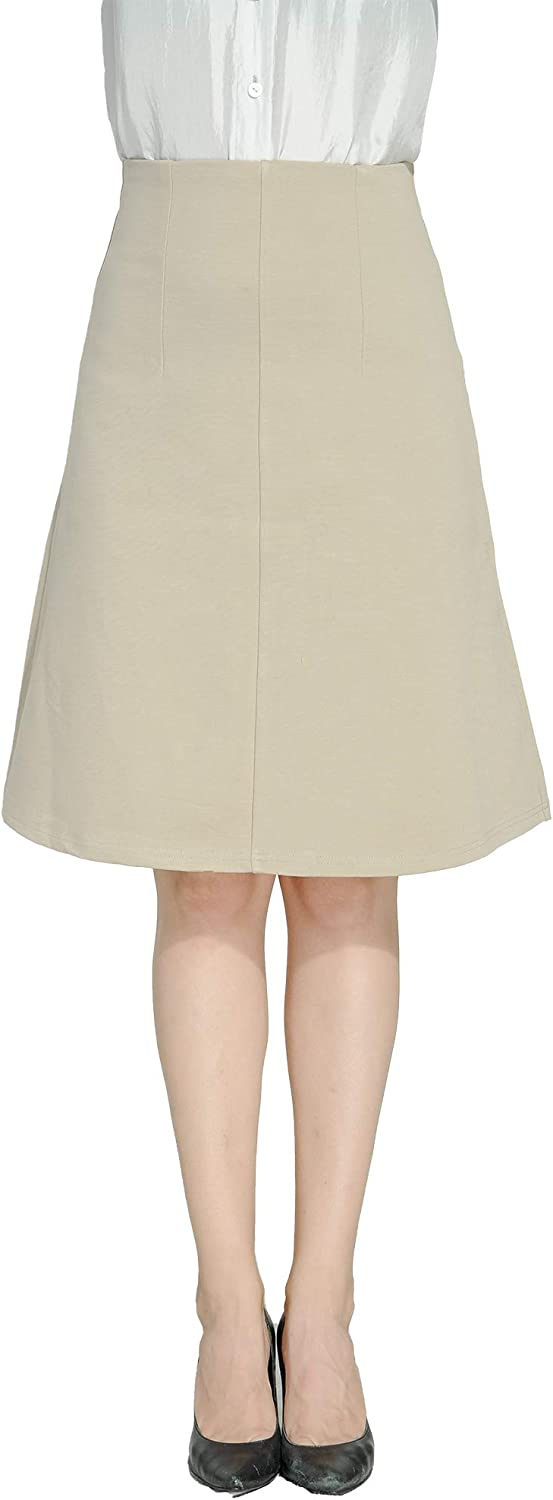 Marycrafts Women's Work Office Business Knee Flared A Line Skirt