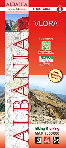Albania hiking & biking 1:50000: Karte 8: Vlora