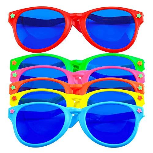 Gafas Fiesta Plástico 6 Piezasz, Gafas de Fiesta de Playa, Gafas Sol Gigantes Fiesta, Jumbo Gafas para Fiestas,para Traje De Playa Vestido Foto Apoyos Suministros