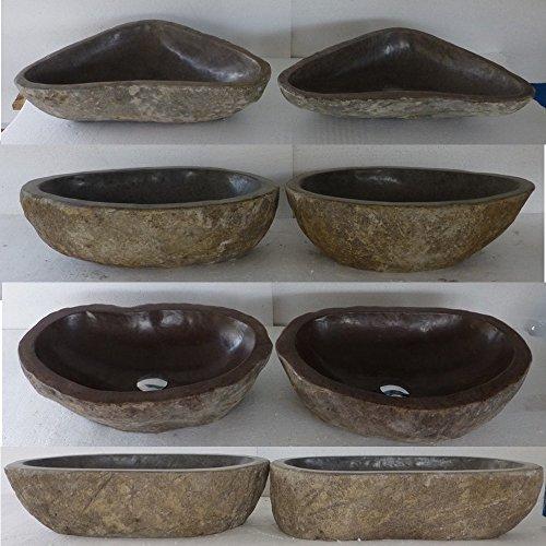 double vasque lavabo à poser en pierre naturelle 40cm, Duo. Choix sur photos envoyées après votre commande.