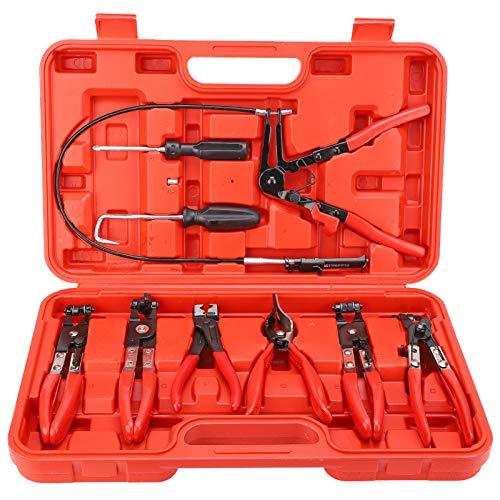 9 Stück Schlauchklemmzange, Schlauchklemmen-Zangensatz, Schlauchklemme Zange, KFZ Zangen, Schlauchschelle Werkzeug