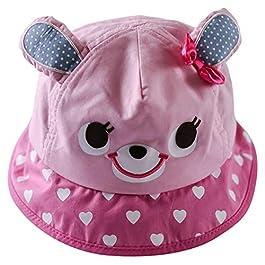 Happy Cherry Enfant Chapeau de Soleil Réglable Bébé Bob Anti UV Chapeau de Pêche Fille Garçon Hat Imprimé Bonnet avec…
