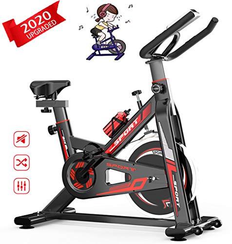 GRXINNN Bicicleta De Ejercicios Magnética,Bicicleta Estacionaria De Interior Bicicletas Estaticas con Manillar Ajustable Y Asiento para Entrenamiento Cardiovascular/Pérdida De Grasa