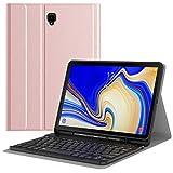 MoKo Funda para Samsung Galaxy Tab S4 10.5' Teclado, Cubierta con Soporte para Stylus, Protector de Teclado Inalámbrico para Galaxy Tab S4 10.5' (SM-T830 and SM-T835) 2018 - Oro Rosa