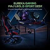 EUREKA ERGONOMIC Gaming Tisch L60 Eckschreibtisch Gaming Büro Schreibtisch L-förmige PC Tisch Gaming Groß Computerecktisch Gamer Tisch 155 * 110 cm Schwarz Recht - 4