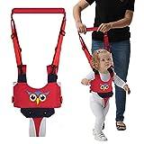YEALEO Arnés para caminar para bebés, 4-in-1 cinturón de bebé transpirable, arnés para caminar ajustable durante 7-24 meses (C-Rojo Búho)