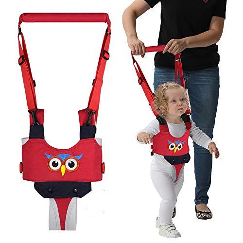 Baby Gehhilfe, Lauflernhilfe Gehhilfe für Baby, Stehen Gehen Lernen Helfer Walker, Kleinkind Fuß Assistent Weste, für Kinder 8-24 Monate (Gestickte rote Eule)