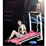 YL Treasure Fitness Running Machine Tapis de Course mécanique Mini Pliage Ultra-Silencieux Accueil Multi-Fonction Machine à Pied Gym Équipement de Corps (Couleur : Rouge, Taille : 100x50x90cm)