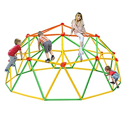 NAQIER Climbing Dome 2021 Upgraded 10FT Dome Climber for Kid 3-10 Jungle Gym Monkey Bar Geometric Climbing Dome Support 800LBS Indoor Outdoor Toddler Play Centre from NAQIER
