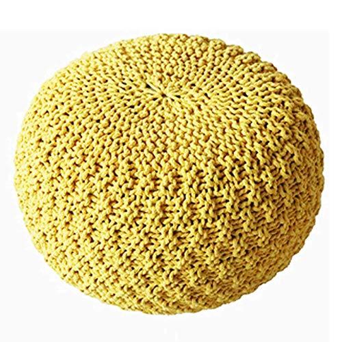 SCJ Taburete Grande de Punto 100% algodón Taburete de pie Redondo de Punto Grueso de 3 tamaños, B, 45 * 45 * 30 CM