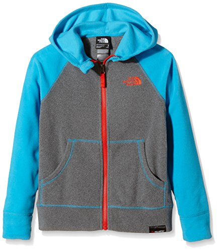 The North Face Jungen Polarjacke B Glacier Full Zip Hoodie, heather grey/meridian blue, XS