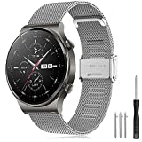 Correa Huawei Watch GT 2 Pro 46mm/Galaxy Watch 3 45mm/Galaxy Watch 46mm/Gear S3 Banda de Acero...