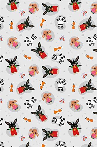 Coperta in pile Bing Bunny Hoppity Voosh, ufficiale Bing, 100 x 150 cm