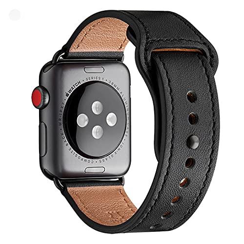 LOVLEOP バンド コンパチブル Apple Watch バンド 42mm 44mm,トップレザー交換用ストラップ コンパチブル ...