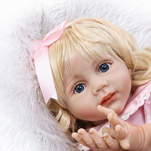QXMEI Simulation Reborn Babypuppe 24 Zoll   6cm   Gliedmaßen Silikon Tuch   Kinder Spielzeug Geschenk