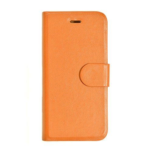 iPhone 6S Plus/iPhone 6 Plus (5.5 pulgadas) Funda delgada de piel sintética, botón magnético y función de soporte, color camello [importación de Japón] 1821IP6SB