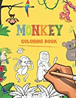 Monkey coloring book: 40 cute monkey and 40 cute animals as a gift | Monkey Coloring Book For Toddlers and kids ,| cute monkey coloring book