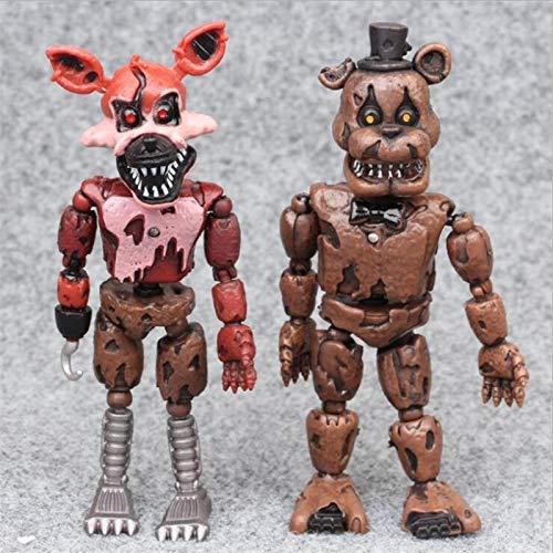liuyb 2 Unids / Set Cinco Noches En Freddy Figura De Anime FNAF Oso Figura De Acción Modelo De PVC Freddy Juguetes para Niños Regalos 15Cm